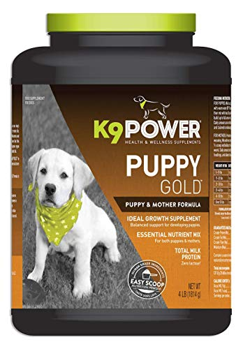 K9 Power Puppy Gold - Nutritional Supplement for Growing Puppies - 4 Pound