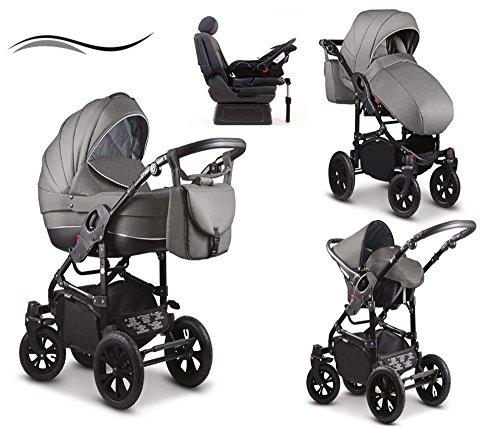 17 teiliges Qualitäts-Kinderwagenset - Reisesystem 4 in 1