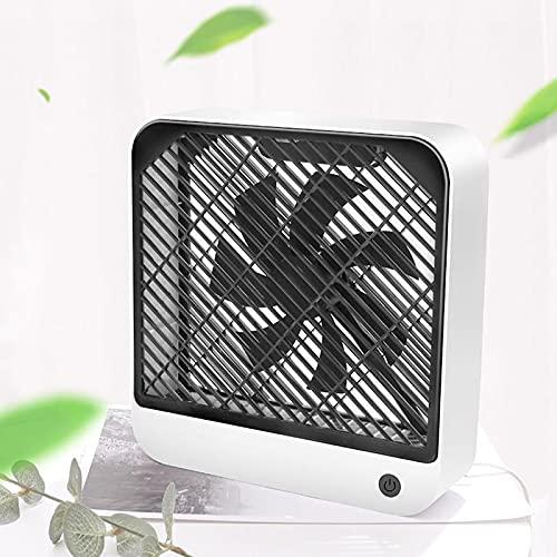 SAMUR Ventilador de Mesa USB Portátil Mini, Ventilador de Escritorio Portátil, Ventilador Cuadrado Pequeño, Silencioso