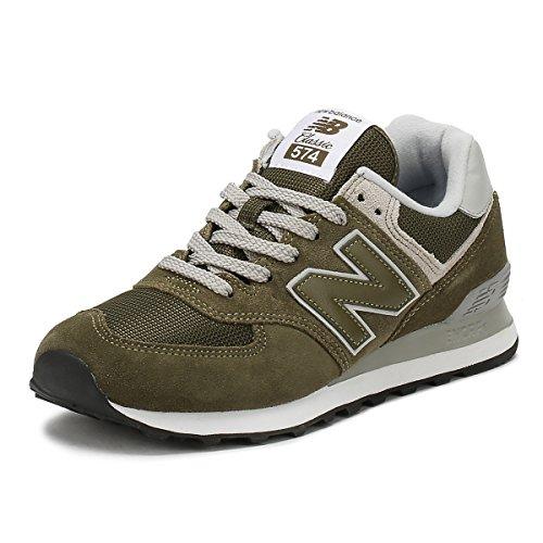 New Balance 574v2 Core', Sneaker Uomo, Sintetico, Verde (Olive), 44.5 EU