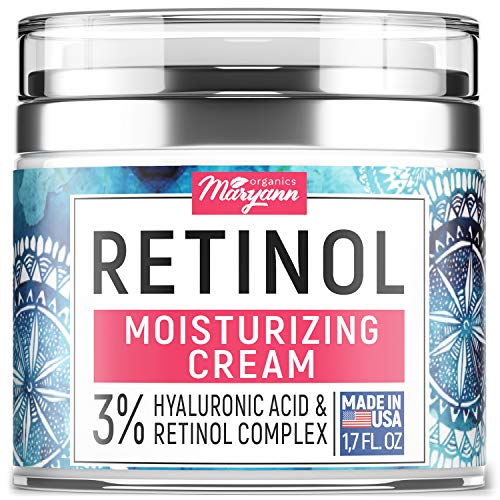 Anti Aging Retinol Moisturizer Cream for Face - Natural and Organic Night Cream - Made in USA -...