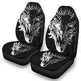 Ainiteey Dragon Protector de asiento de coche duradero y suave, fácil de poner en el asiento blanco onesize