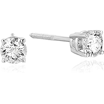Vir Jewels 1/3 cttw Certified Diamond Stud Earrings 14K White or Yellow Gold with Screw Back I1-I2