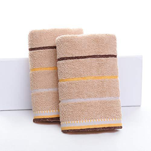 CMZ Toallas de Lavado de Toallas Suaves Lisas absorbentes de algodón Puro Toalla de algodón Puro Simple a Rayas Unisex (34x75cm)