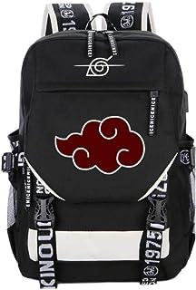 Anime Akatsuki Sharingan Naruto Backpack Impresión De Mochilas Escolares Cosplay Bolsas De Hombro para Computadora Portátil