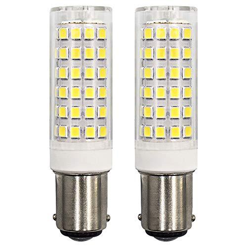 Dimmbar B15D LED Mais Leuchtmittel 6W Entspricht 60W Glühbirnen 230V 360 Grad Winkel Kaltweiss 6000K- 2er Stück [MEHRWEG]