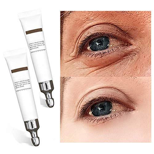 20 ML Crema para Los Ojos MáGica, Crema para Los Ojos con ReparacióN RáPida de Arrugas, Suero InstantáNeo para Levantar Los Ojos, Reduce Las Ojeras, Las Bolsas para Los Ojos Y Las Arrugas (2 Piezas)