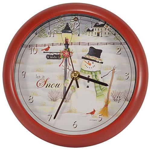 Mark Feldstein & Associates Let it Snow Lisa Kennedy Penny Lane Holiday Clock, 8'