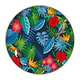 Coasters for Drinks Leather Print Drink Coasters (4.3 Inch, Round, 12mm Thick), Mariposa Loro Flor Absorbent Heat-Resistant Coasters for Drinks, Great Housewarming Gift Set of 6 11 cm