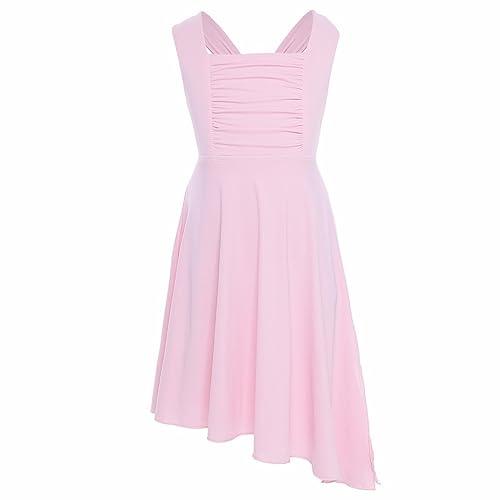 iiniim Girls Lyrical Dance Costume Dress Criss-cross Back Contemporary  Ballet Modern Dance Costumes a57c07f87