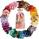 40 Pcs Chouchous Cheveux Chouchous En Satin, Scrunchies Satin Femme Ou Filles Accessoires Cheveux