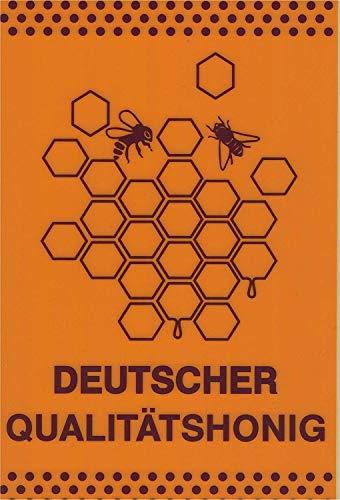 Pst-Sign Duitse Kwaliteit Honing - 309294/5 Geel Maat 30cm x 20cm - Kunststof Teken - Bijenhoning.