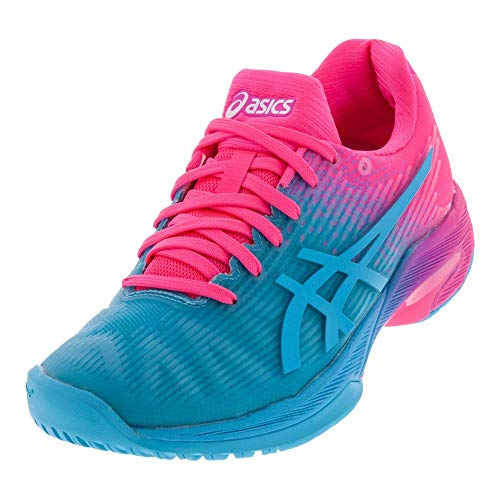 ASICS Women's Solution Speed FF L.E Tennis Shoes, 5M, Aquarium/HOT Pink