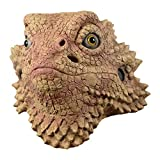 CY TOYS Desert Spiny Lizard Mask Animal Head Mask Halloween Costume Pretend for Adults Brown Large