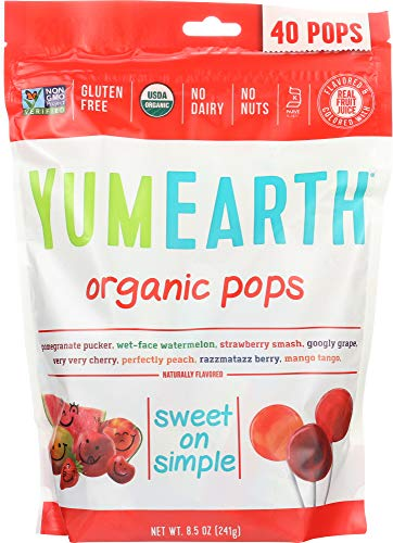 YumEarth NOT A CASE Assorted Organic Pops 40 Pops