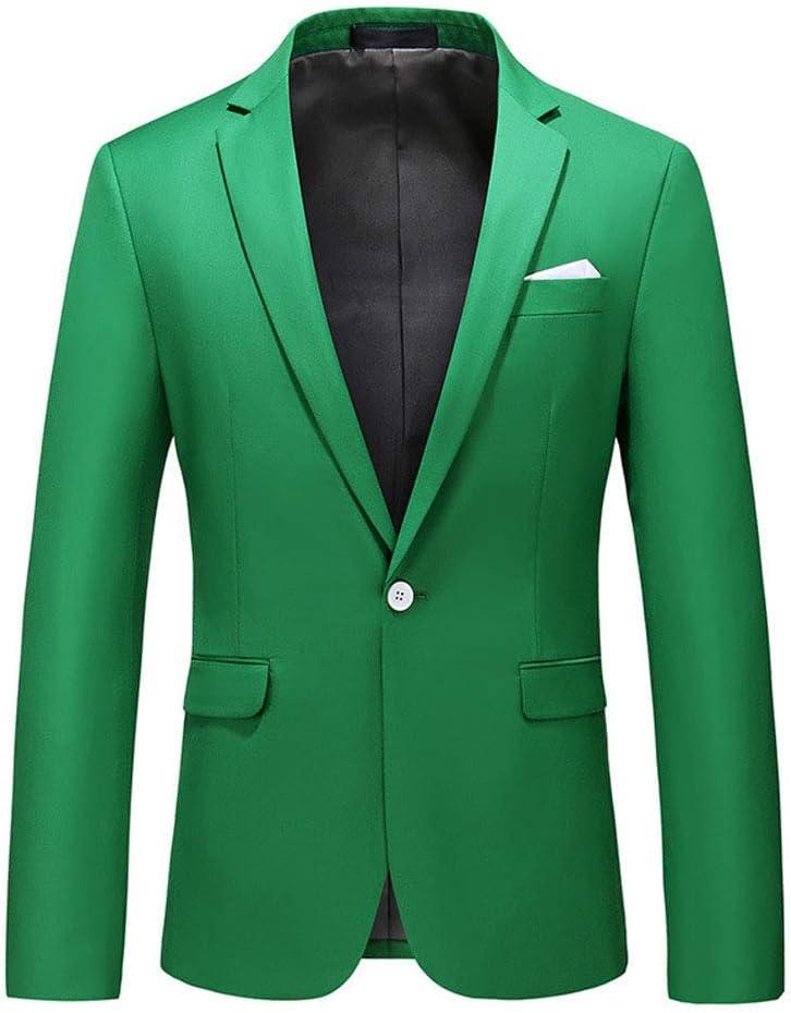 WCNMD Men's Casual Blazer Jacket, Men's Professional fit Suit, Gentleman's Suit, one Button blazer-C1-5X-Large