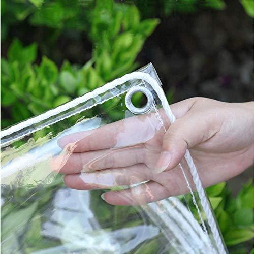 lona impermeable , lona de protección con ojales ,PVC lona de protección impermeable y resistente a la rotura,para muebles de jardín, piscina, 0,3 mm, 440 g / m²-2x4 m / 6,6x13,2 pies