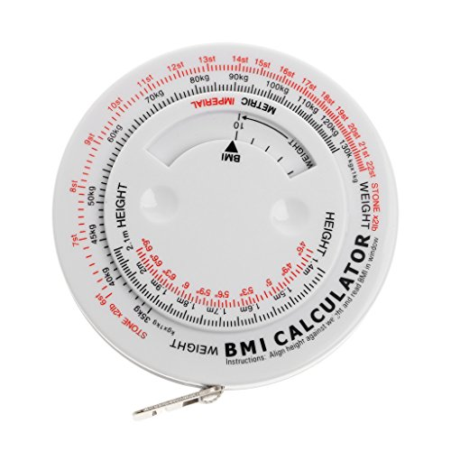 Cuigu Index Retractable Tape - BMI Body Mass Index Retractable Maßband Diät Abnehmen Rechner, 150cm