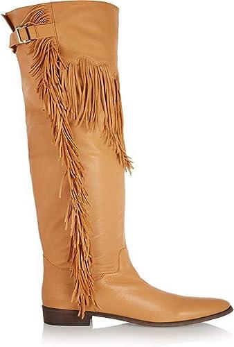 NIUYUAN Glands Des Genoux Chaussures Femmes Européennes Talons Hauts Hauts Hauts Sur Bottes Genou,jaune,38 619