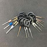 DENGC Kit de Herramientas de extracción de terminales de automóvil Cableado de arnés Conector de engarzado Extractor Extractor Pin de liberación Herramientas de reparación Profesionales - Negro