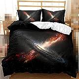 Juego de cama de 3D Galaxy para cama individual, doble, grande, 2 piezas, 3 piezas, 4 piezas