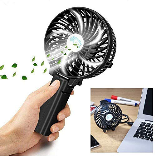 Best Price Portable Summer Mini Cooling Fan Rechargeable Desktop Handheld Fan 3 Speed 2000mAh Battery