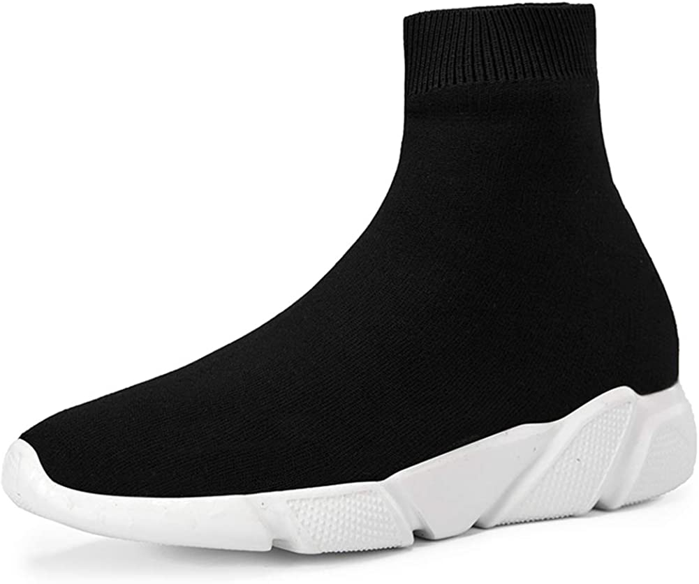 SUNROLAN Fashion Sneakers for Women and Men Lightweight Athletic Running Shoes Breathable Walking Sock Shoes