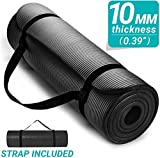 SIGNATRON 10mm Extra Thick Yoga and Exercise Mat Anti Skid with Carrying Strap