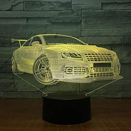 Super Car Touch Tischlampe,7 Farben Wechsel Schreibtischlampe 3D Lampe Neuheit Led Nachtlichter