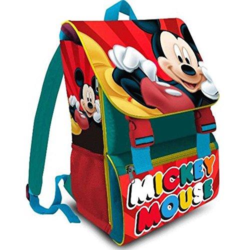 Kit Scuola 3 in 1 School Promo Pack Zaino Estensibile + Astuccio 3 Zip Accessoriato + Ombrello Salvaspazio Disney MICKEY MOUSE Topolino Edizione Nuova