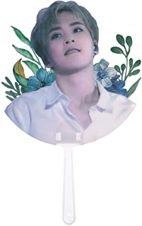 Youyouchard Portable Mini Hand Fan Kpop EXO Concert Supported Transparent PVC Fan Hand-held Fan Summer
