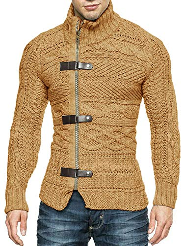 Mens Cashmere Zip Front Sweaters