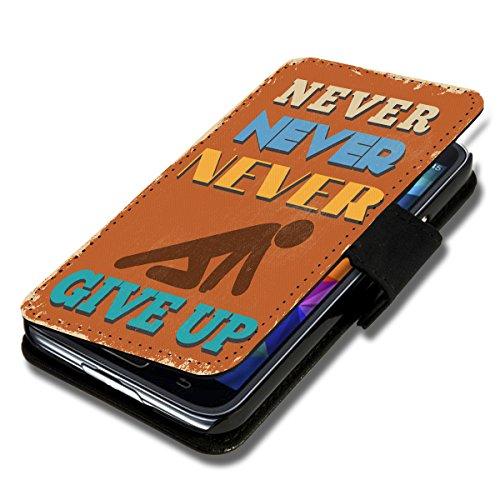 wicostar Book Style Flip Handy Tasche Hülle Schutz Hülle Schale Motiv Foto Etui für LG Bello 2 / Bello II - Flip X16 Design7