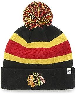 416a6c63356  47 Brand Breakaway Cuff Beanie Hat with POM POM - NHL Cuffed Winter Knit  Baseball ·