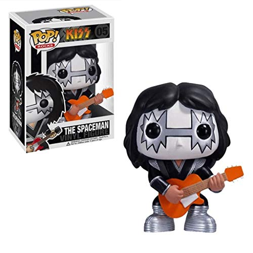 LLFX Pop Figuren KISS - The Spaceman Figur Spielzeug Rapper-Felsen-Musik-Puppe Ornamente Dekoration Kollektion for Fans for Boys