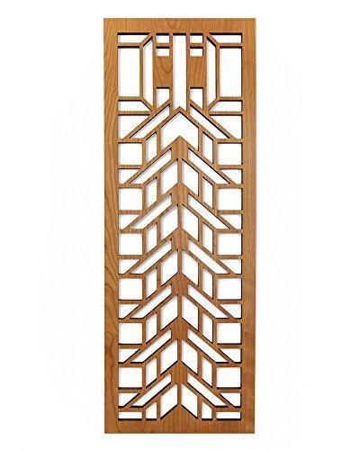 Lightwave Laser Frank Lloyd Wright Martin House Wood Art Screen Wall Element Cherry