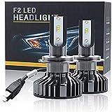 Iriisy 2Pcs Bombillas LED H7 16000LM 80W H7 Kit de Faros Delanteros LED para Coche 6000K Lámparas Blancas 40W set Reemplazo de Faros de Haz Alto y Bajo para Coche