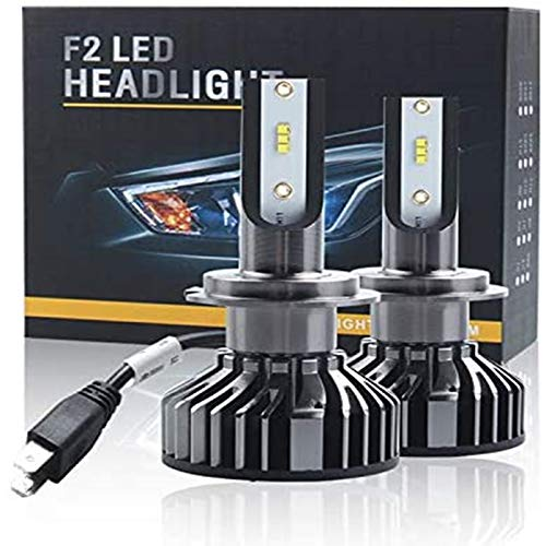 Iriisy 2Pcs Bombillas LED H7 16000LM 80W H7 Kit de Faros Delanteros LED para Coche 6000K Lámparas Blancas 40W set Reemplazo...