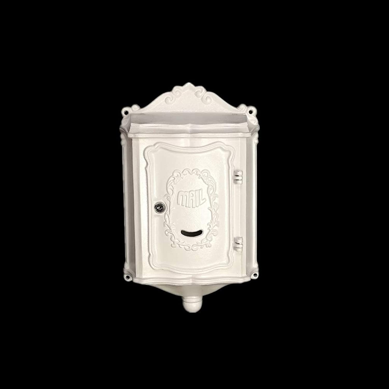 YQCS●LS ヨーロッパの古典的な別荘メールボックス、メールボックスのレターボックスアンティークメタリック、 - ビンテージ手紙メールポストボックス