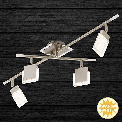 Briloner Leuchten Led-plafondspot, plafondlamp, verstelbare armen, 4 x 4 watt, mat-nikkel