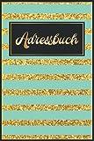 Telefonbuch Alphabetisch: Goldene Streifen Telefonnotizbuch Adressen Buch für Mädchen Frauen und Senioren Geschenke || Soziale Medien Adressbuch Passwort Book - A5 Große Schrift