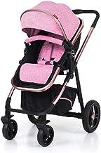 KKCD-Cochecito De Bebésilla De Paseo 2 En 1 Cochecito De Cochecito Cochecito De Paseo Combi Cochecito Baby Jogger Buggy De Viaje Cochecitos Para Niños Silla De Paseo (Color : Pink)