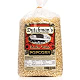 Dutchman's White Popcorn: Medium Virtually Hulless Popcorn Kernels for Popping in Microwave, Air Popper, Stovetop - Non GMO and Gluten Free Gourmet Popping Corn - 4 Pound Refill Bag