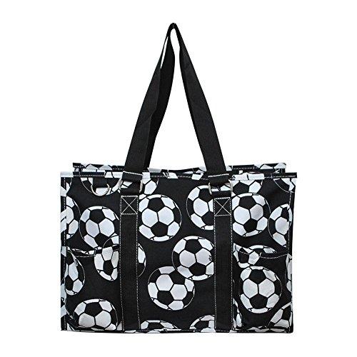 N Gil All Purpose Organizer Medium Utility Tote Bag 3 (Soccer Black)
