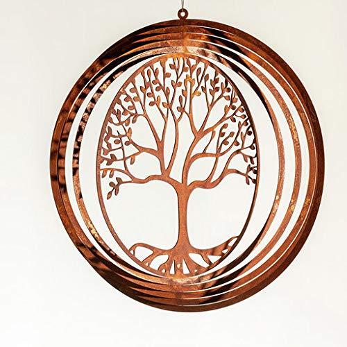 Rostalgie Edelrost Windspiel Spirale Lebensbaum filigran 26cm Gartendekoration Geschenk