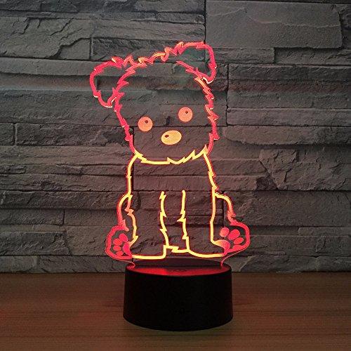 3D Nette Hundeleine Nachtlicht Acryl USB Lade Remote Touch Remote Base Tisch Besten Geschenke für Kinder Spielzeug Weihnachtsgeschenke