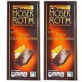 Moser Roth German Dark Chocolate Bars -Orange & Almond (pack of 2)