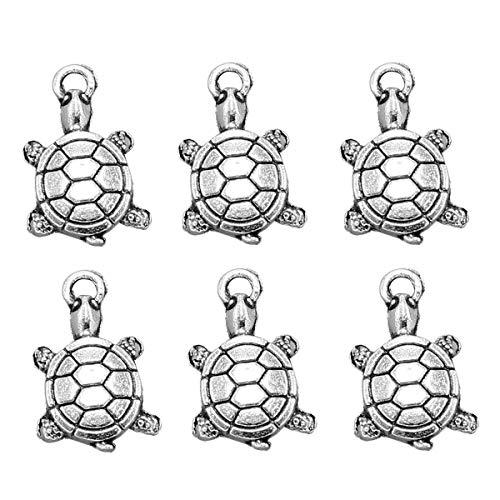 TENDYCOCO 20 colgantes de aleación de tortuga colgantes para hacer tu mismo,...