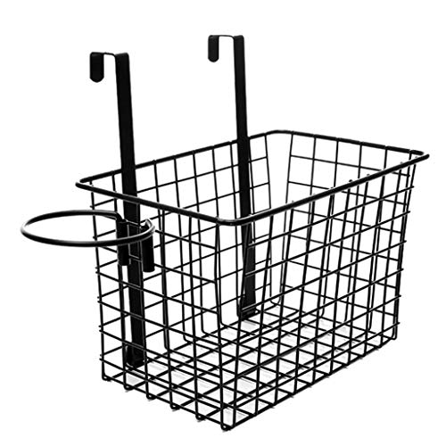 Ecurson Metal Wire Bathroom Over Cabinet Door Hair Care & Styling Tool Organizer Storage Basket for Hair Dryer, Flat Iron, Curling Wand, Hair Straightener, Brushes Multifunction Storage Rack