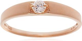 [CHIARO DI DIAMANTE] CHIARO DI DIAMANTE K10玫瑰金×0.1ct钻石戒指